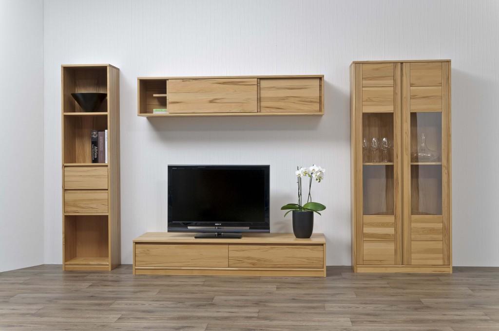 Tischlerei CNC Innenausbau Massivholzmöbel Wohnwand Buche