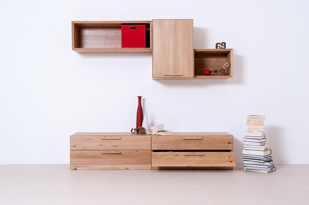 Tischlerei CNC Innenausbau Massivholzmöbel Wohnwand Eiche