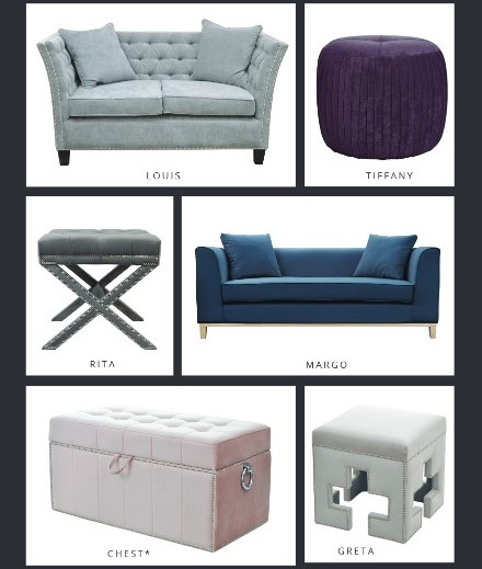 Polstermöbel Hocker Sofa Bett