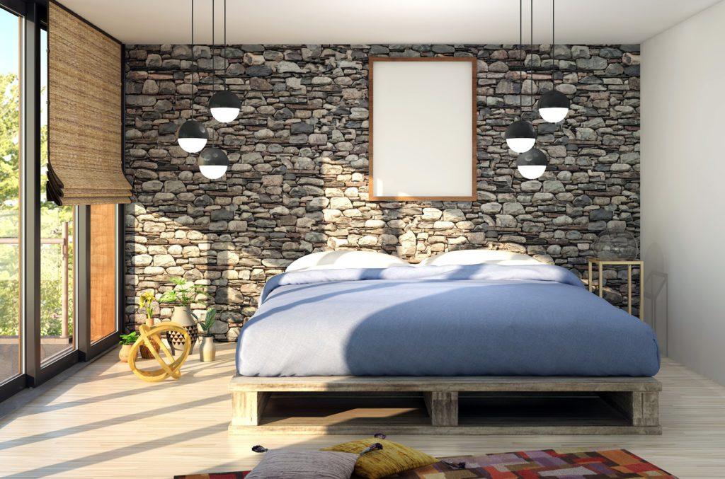 Altbausanierung Badsanierung Küche Schrankraum Interior Design Schlafzimmer Palettenbett Architektur