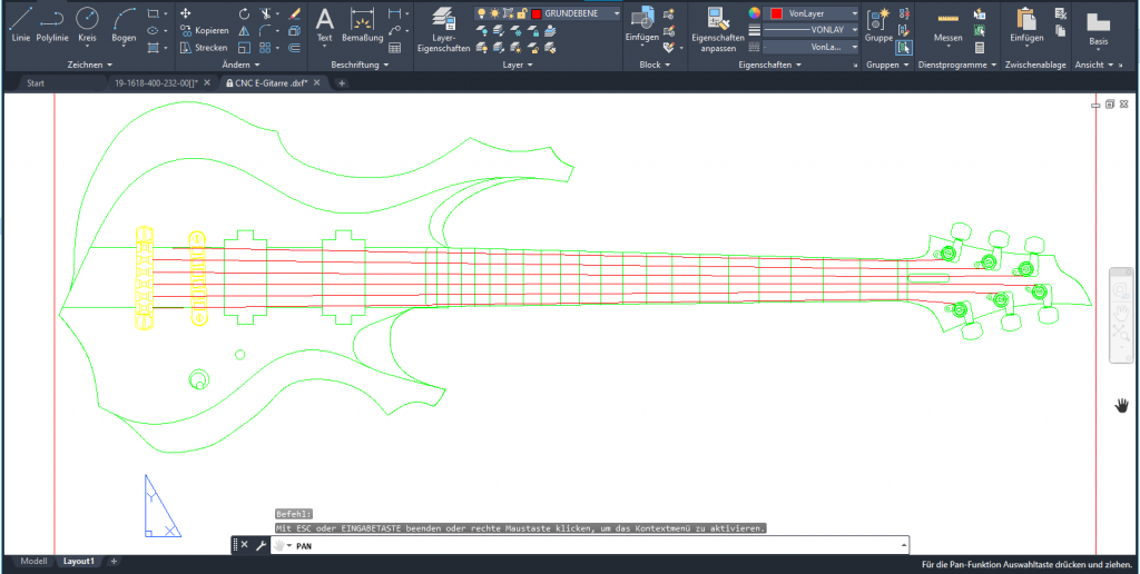 CNC Lohnfertigung Frästechnik Frästeile CNC fräsen E-Gitarre