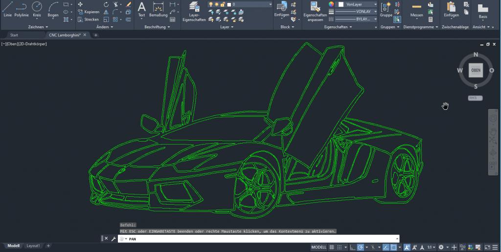 CNC Lohnfertigung Frästechnik Frästeile CNC fräsen Lamborghini