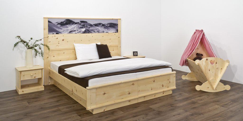 Tischlerei Kinder Haustier Möbel Baby Wiege Bett Zirbe Massivholz