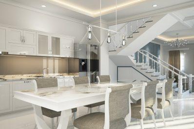 Altbausanierung Badsanierung Küche Schrankraum Interior Design Neoklassik