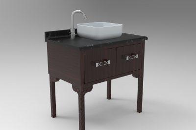 Handwerkskunst Holzfiguren Möbelrestaurierung Antiquitäten zeitgenössisches Waschbecken
