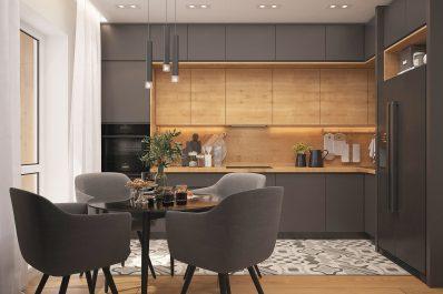 Altbausanierung Badsanierung Küche Schrankraum Interior Design dreidimensional Fotorealismus