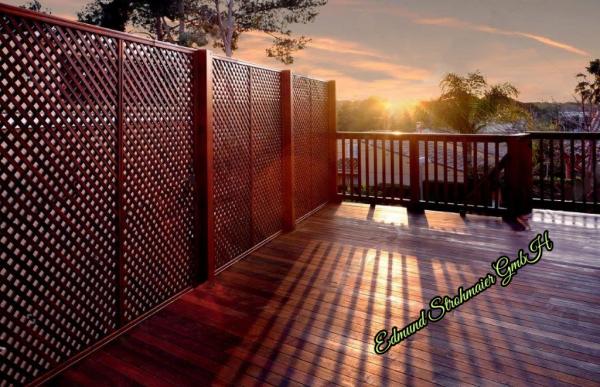 CNC Trennwand Sichtschutz Zaun Holz